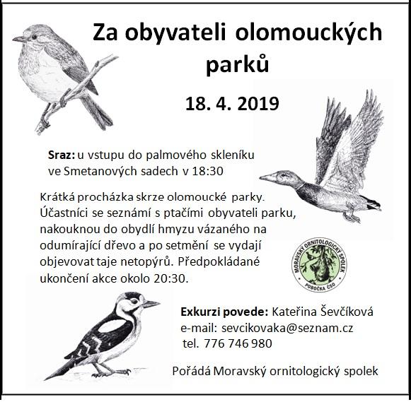 18. 4. 2019 – Za obyvateli olomouckých parků