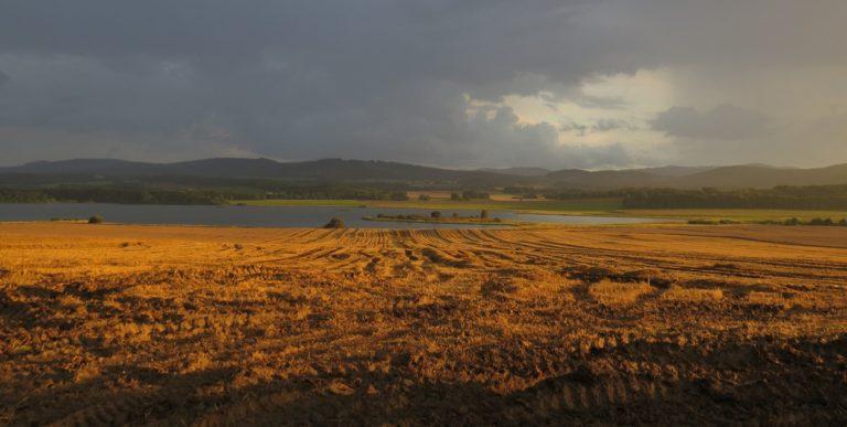 Dramatická podzimní atmosféra u rybníka Dehtář, foto: Vojtěch Kubelka.